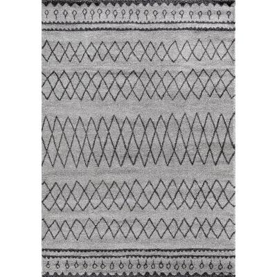 Tapis de salon Berbère 22464 gris noir 160x230cm
