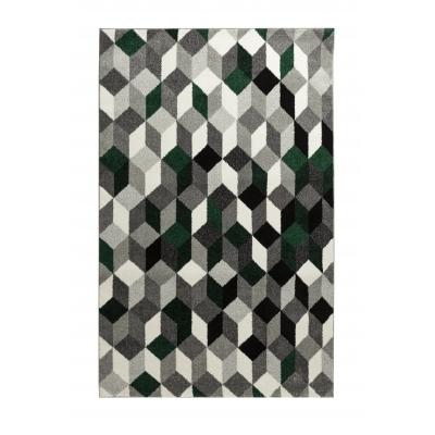 CARA Tapis de salon multicolore - 160 x 230 cm - vert