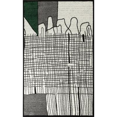 CALI Tapis de salon graphique - 160 x 230 cm - vert