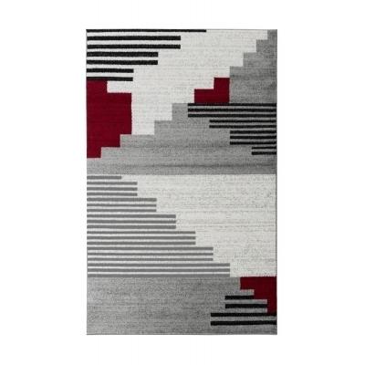 PINTA Tapis de salon contemporain - 160 X 230 cm - rouge
