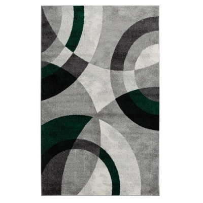 ANTA Tapis de salon contemporain - 160 X 230 cm - vert
