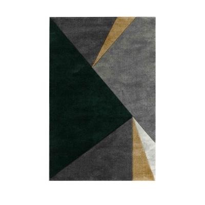 SETI Tapis de salon à effet relief - 160 x 230 cm - vert