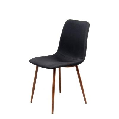 MAGGIE 2 Chaises design au revêtement noir