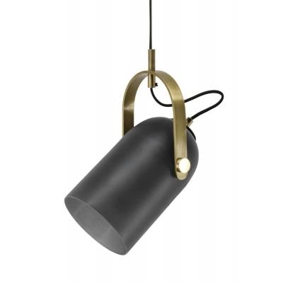 CANDACE Suspension en métal noir et cuivre