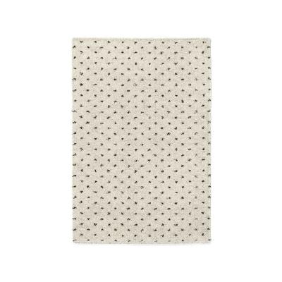 SHAMA 600 Grand tapis de salon Shaggy - 160x230 cm - crème