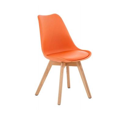 KOTON 2 chaises style scandinave VISTA Oranges