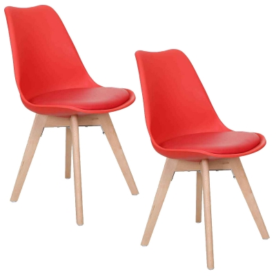Chaises Rouges Style 2 Scandinave Vista gf76yYbv