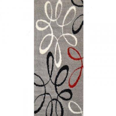 koton tapis couloir sensation motifs gris 80x300cm - Tapis Couloir