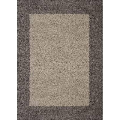 koton tapis life shaggy taupe 120x170cm - Tapis Taupe