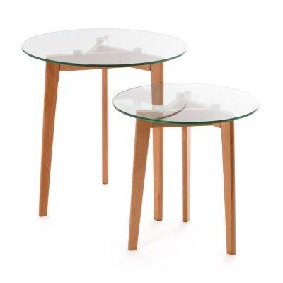 Koton Grande Table Gigogne Scandinave Alima Bois Verre