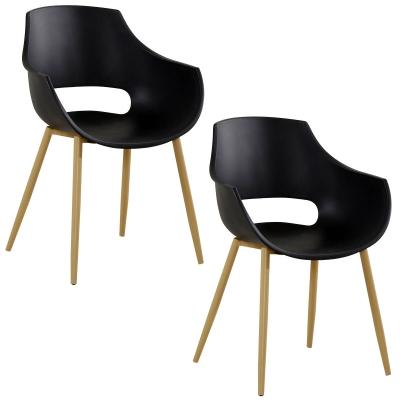 koton 2 chaises scandinaves seltis noires - Chaises Scandinaves Couleur