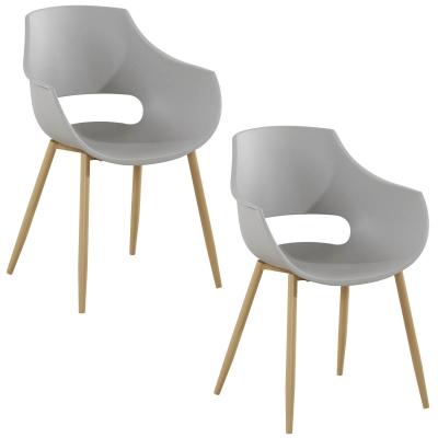 koton 2 chaises scandinaves seltis grises - Chaises Scandinaves Couleur