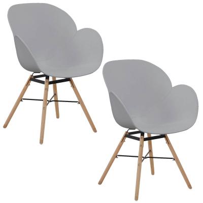 koton 2 chaises scandinaves sitia grises - Chaises Scandinaves Grises