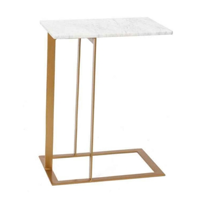 Table Rectangulaire Style Industriel Vassaro Bois Blanc