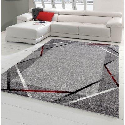 Koton Tapis De Couloir Santana Gris Noir Rouge 80x250cm