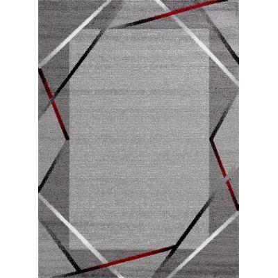Koton Tapis De Salon Santana Gris Noir Rouge 200x280cm