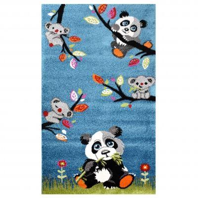Tapis chambre enfant Panda Koala Bleu 80x150cm