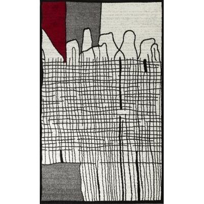 Koton Cali Tapis De Salon Graphique 80 X 150 Cm Rouge
