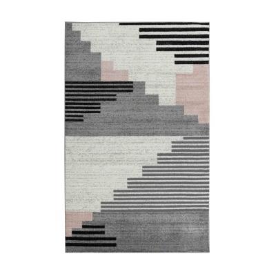 KOTON - PINTA Grand tapis de salon contemporain - 200 x 280 cm - rose