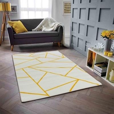PRISMA Grand tapis de salon moderne - 200 x 280 cm - blanc