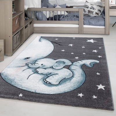 KOTON - EFELAN - Tapis chambre enfant - 160 x 230 cm - gris ...
